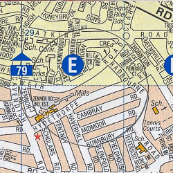 Balham map - London A-Z Project