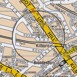 Kilburn map - London A-Z Project