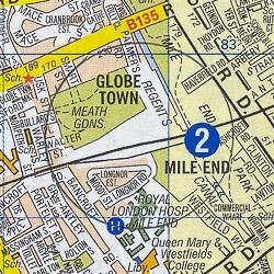 Mile End map - London A-Z Project