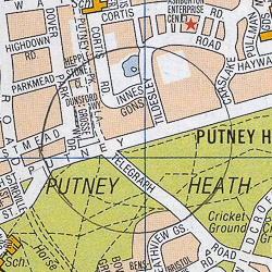 Putney Heath map